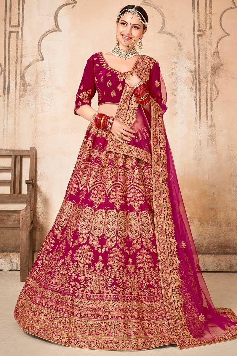 Rani Pink Colour Bridal Lehenga Off 78 Buy Green color pure silk jacquard heavy. rani pink colour bridal lehenga off 78