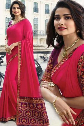 Adorable Sana Silk Pink Saree With Heavy Jacquard Pallu