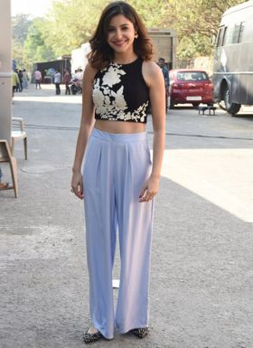 Anushka Sharma Lavender Palazzo Suit With Top