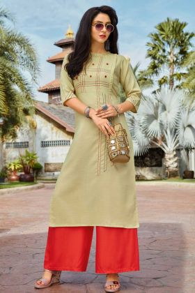 Attractive Thread Work Designer Kurti