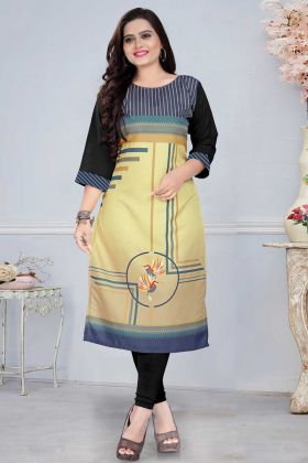 Awesome Look Multi Color American Crepe Kurti