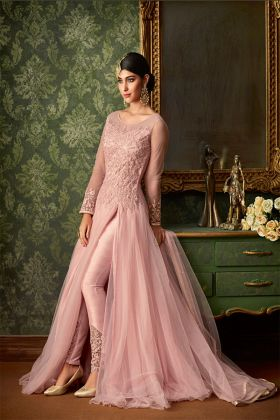 Baby Pink Color Wedding Salwar Suit