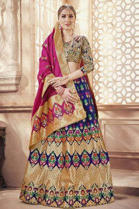 Banarasi Art Silk Multi Lehenga Choli