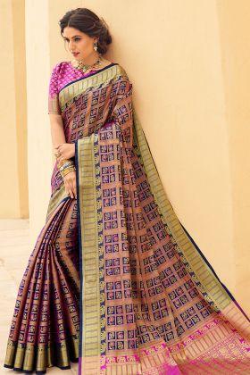 Banarasi Weaving Silk Designer Multi Color Saree