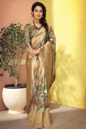Beautiful Tone Art Silk Multi Color Traditional Saree