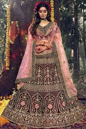 Beautiful Wear Designer Bridal Maroon Lehenga Choli