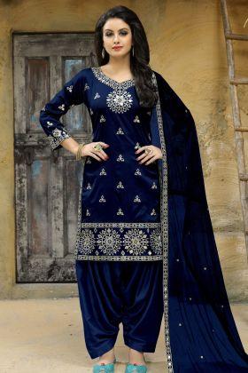 Beautiful Blue Designer Punjabi Suit