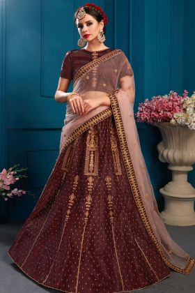 Beautiful Brown Wedding Lehenga