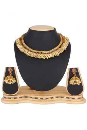 Beautiful Golden Mix Metal Necklace Set
