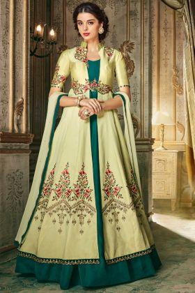 Beautiful Pista Designer Anarkali Suit