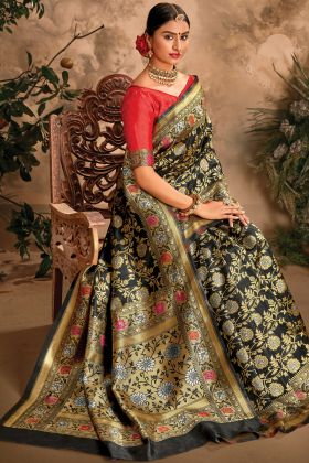 Black Color Art Silk Traditional New Launching Saree By Online