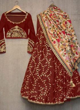 Black embroidered wedding lehenga choli