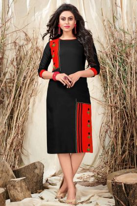 Black and Red Color Kurti