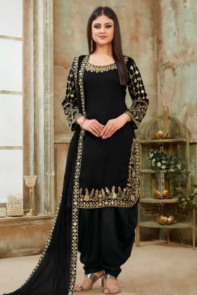 Black Color Beautiful Patiala Salwar Suit