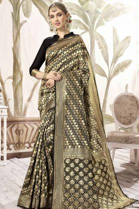 Black Color Wedding Saree Online