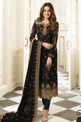 Black Georgette Chudidar Suit