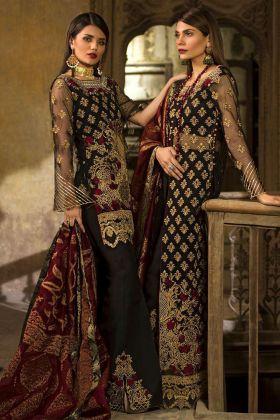 Black Net Pant Style Pakistani Suit