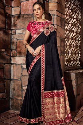 Black Silk Designer Saree Online