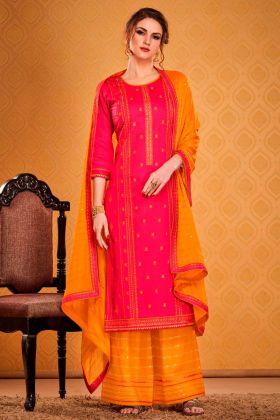 Blooming Rani Pink Designer Party Wear Salwar Suit