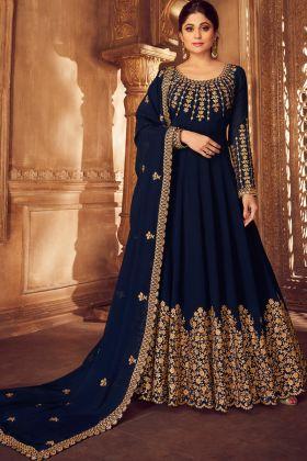 Blue Georgette Anarkali Suit Online