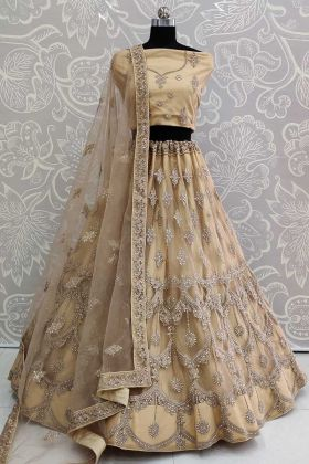 Bridal Lehenga Net Fabric With Designer Dupatta