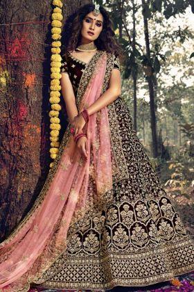Bridal Wear Heavy Designer Maroon Lehenga Choli Online