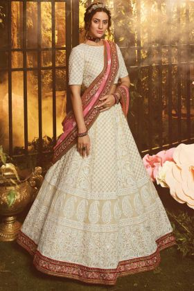 Bridal Wear Heavy Designer White Lehenga Choli