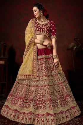Bridal Maroon Color Bridal Lehenga Choli