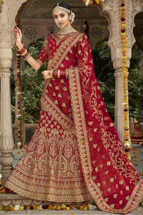 Bridal Silk Red Lehenga Choli Online