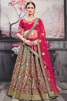 Bridal Teal Green Lehenga Choli Online