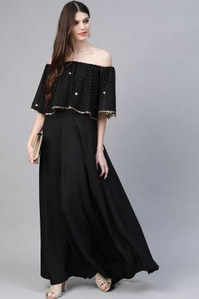 Buy Most Demanding Black Heavy Crepe Anarkali Kurti