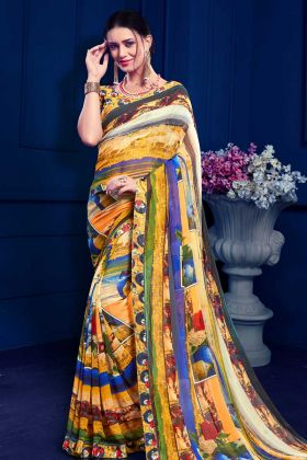 Casual Saree Collection In Multi Color