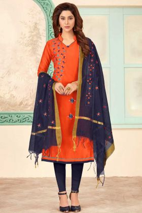 Cotton Slub Chudidar Salwar Suit