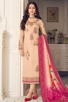Cream Beautiful Indian Salwar Kameez