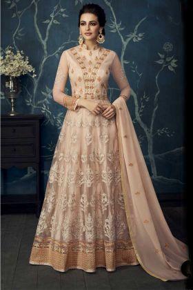 Cream Color Anarkali Salwar Suit