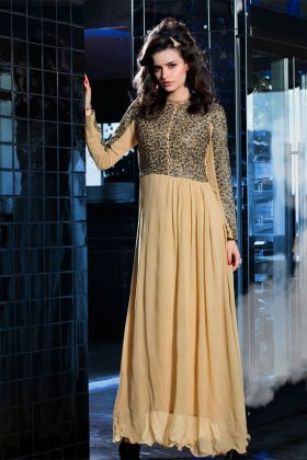Cream Georgette Kurti Design