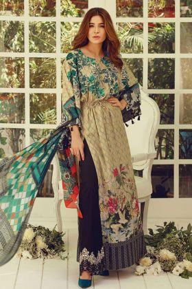 Cream Pure Cotton Pakistani Dress