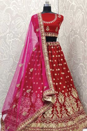 Dark Pink Bridal Lehenga Designs For Shaadi