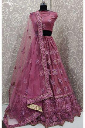 Dark Pink Color Designer Lehenga Choli For Wedding