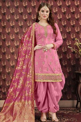 Dark Pink Patiala Salwar Kameez