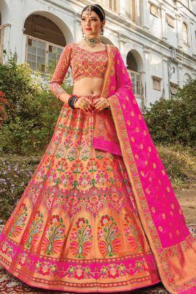 Delightful New Designer Bridal Silk Lehenga Choli In Multi Color