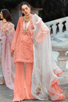 Designer Cambric Cotton Pakistani Sharara Suit