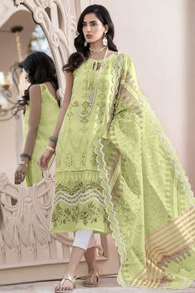 Designer Party Wear Light Green Color Salwar Suit