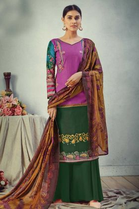 Designer Printed Multi Color Pure Cambric Cotton Salwar Suit