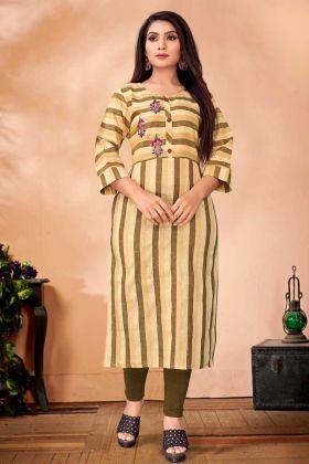 Designer Readymade Kurti In Cotton Fabric