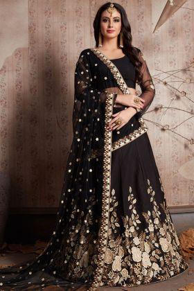 Designer Black Bridal Lehenga Choli
