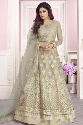 Designer Butterfly Net Anarkali Suit