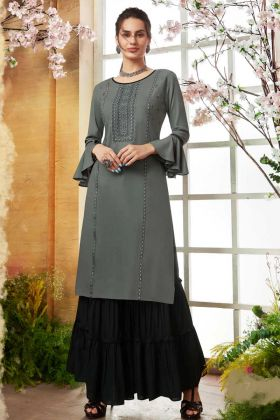 Designer Embroidered Readymade Sharara