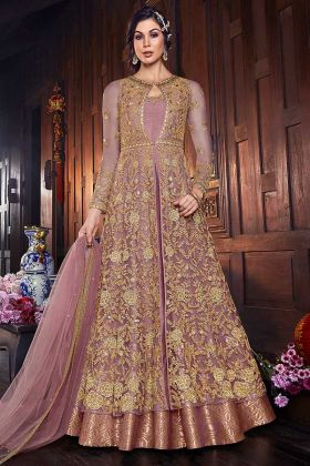 Designer Indo Western Dress Onion Pink For Party