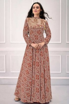 Designer Latest New Arrival Brown Gown